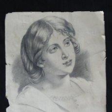 Arte: DIBUJO A CARBÓN - MAMA -. AÑO 1887.. Lote 58106737