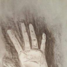 Arte: DIBUJO CARBONCILLO, MANO, 40X30CM. Lote 58139974