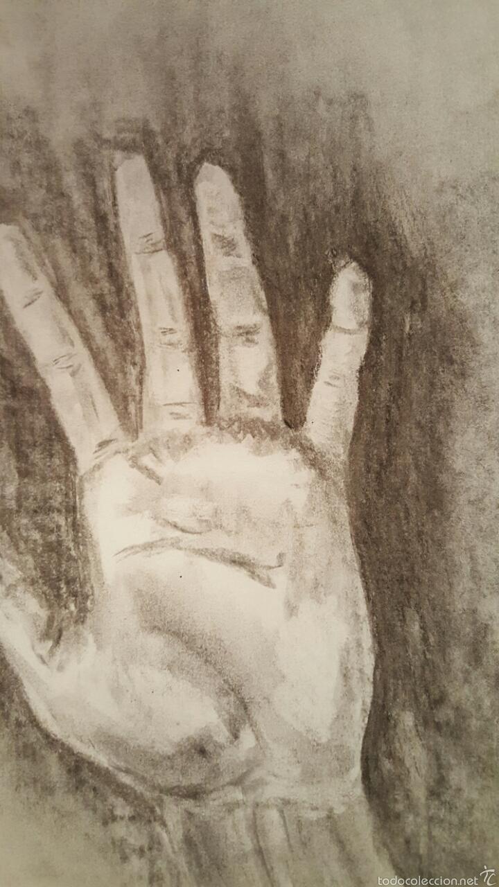 Arte: Dibujo carboncillo, mano, 40x30cm - Foto 2 - 58139974