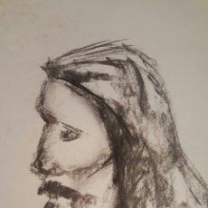 Arte: DIBUJO / BOCETO, JESUCRISTO, CARBONCILLO. Lote 58139983