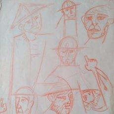 Arte: JOAN BROTAT. DIBUJO ORIGINAL SOBRE PAPEL. Lote 58161314