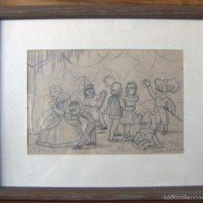 Arte: VIEJO DIBUJO FIRMADO JOSE MANUEL ALVAREZ 1913. Lote 58218425