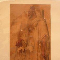 Arte: BERNARDINO MONTAÑES (ZARAGOZA 1825-1893). SUS DIBUJOS DE INDUMENTARIAS Y TIPOS NORTEAFRICANOS........ Lote 58225065