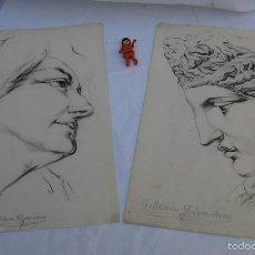 Arte: DIBUJOS ANTIGUOS SEBASTIAN LOPEZ-AMO MARIN BELLAS ARTES BARCELONA VALENCIA PROFESOR AÑOS 40 . Lote 58252355