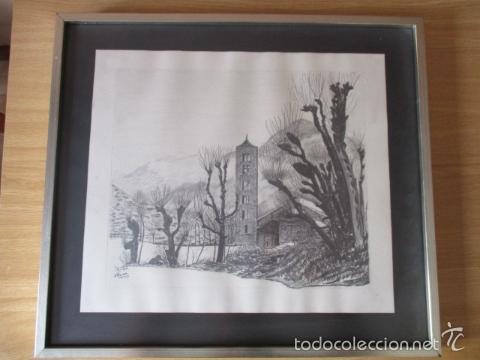 CUADRO DIBUJO A LAPIZ, DE RAMON RECARENS (Arte - Dibujos - Contemporáneos siglo XX)