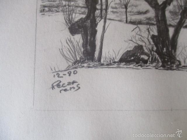 Arte: CUADRO DIBUJO A LAPIZ, DE RAMON RECARENS - Foto 6 - 58300576