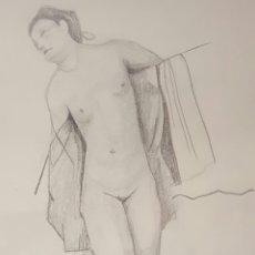 Arte: DIBUJO O BOCETO A LAPIZ, DESNUDO, E. REQUENA. Lote 58304065