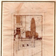 Arte: PAISAJE URBANO, DE ENRIQUE OCHOA (1891-1978). Lote 58380372