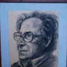 Arte: DIBUJO AL CARBONCILLO DEL MAESTRO COLL BARDOLET.FIRMA ILEGIBLE 1977.. Lote 58400699