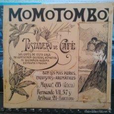 Arte: ORIGINAL PUBLICIDAD BARCELONA MOMOTOMBO MAYOR GRACIA ARIBAU FINALES SIGLO XIX O PRINCIPIOS SIGLO XX . Lote 58440566