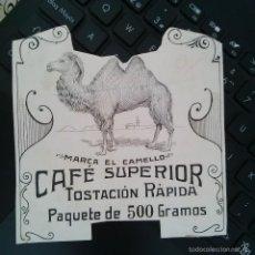 Arte: DIBUJO ORIGINAL PUBLICIDAD CAFES EL CAMELLO FINALES SIGLO XIX O PRINCIPIOS SIGLO XX . Lote 58441142