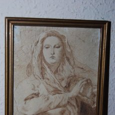 Arte: DIBUJO ORIGINAL A PLUMILLA - COPIA DE LA CONCEPCIÓN DE TIEPOLO - GUILLERMO G. - MEDIADOS SIGLO XIX. Lote 58452824