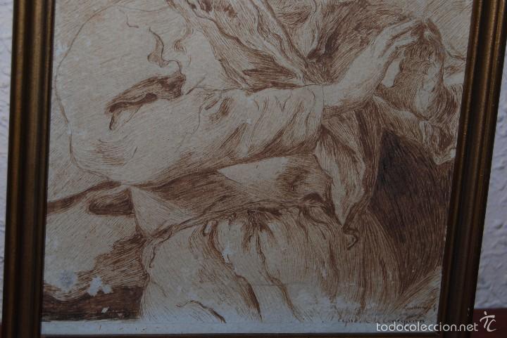 Arte: DIBUJO ORIGINAL A PLUMILLA - COPIA DE LA CONCEPCIÓN DE TIEPOLO - GUILLERMO G. - MEDIADOS SIGLO XIX - Foto 3 - 58452824