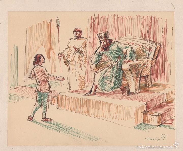 PERE PRAT UBACH. (1892-1969). ORIGINAL TÉCNICA MIXTA. 20 X 16 CTMS. AÑOS 1930S (Arte - Dibujos - Contemporáneos siglo XX)