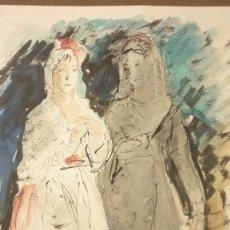 Arte: JOSEP PASCUAL OMS (1903-1977). TÉCNICA MIXTA. ORIGINAL. AÑOS 1930S. 36 X 24 CTMS.. Lote 58470600