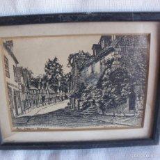 Arte: MILL STREET WARWICK W.G.HILLING CUADRO VINTAGE DIBUJO CONTEMPORANEO. Lote 58485505