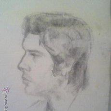 Arte: DIBUJO ANTGUO A CARBONCILLO FELIPE GONZALEZ ? FIRMADO 1971 FIRMA ILEGIBLE. Lote 28190587