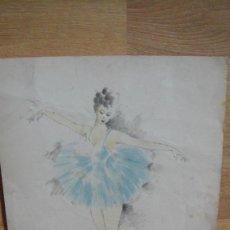 Arte: DIBUJO DE BAILARINAS - FIRMADO , CARRERAS 1935 . Lote 58678081