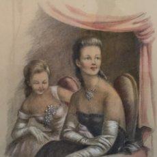 Arte: JOSEFINA TANGANELLI I PLANA (ABEL) , BONITO DIBUJO COLOREADO SOBRE PAPEL. Lote 59433870