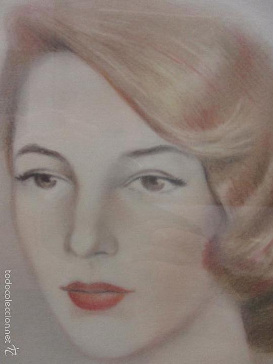 Arte: Bonito Dibujo - Enmarcado y con Cristal - Figura - Firma Florit - Año 58 - Foto 6 - 59479504