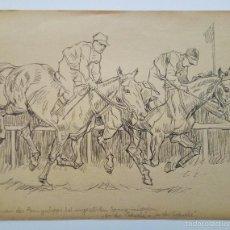 Arte: EXCELENTE CARBONCILLO ORIGINAL DE GEORG HILGERS, FINALES DEL XIX. Lote 59522803