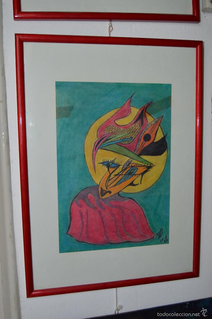 JUGLAR. OBRA DE JOSÉ ÁNGEL SALINAS ÁLVAREZ.(TUDELA 1958). FIRMADA Y FECHADA : JAS 26-5-84 (Arte - Dibujos - Contemporáneos siglo XX)
