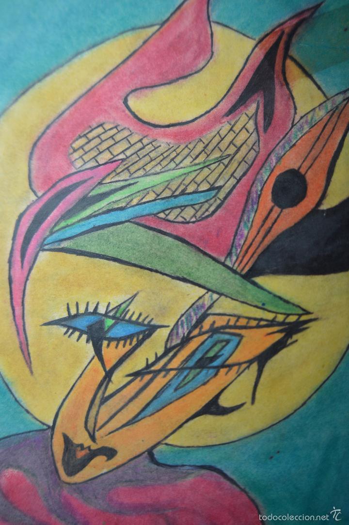 Arte: Juglar. Obra de José Ángel Salinas Álvarez.(Tudela 1958). Firmada y fechada : JAS 26-5-84 - Foto 2 - 59753512