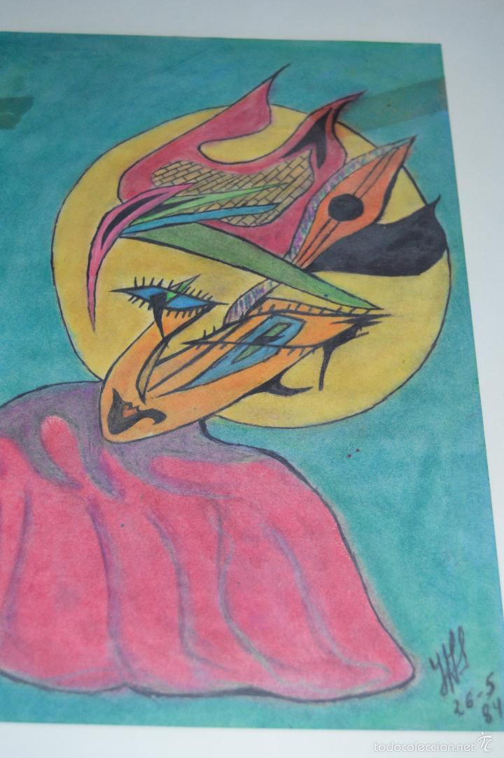 Arte: Juglar. Obra de José Ángel Salinas Álvarez.(Tudela 1958). Firmada y fechada : JAS 26-5-84 - Foto 3 - 59753512