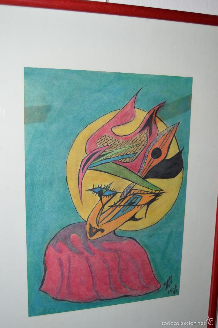 Arte: Juglar. Obra de José Ángel Salinas Álvarez.(Tudela 1958). Firmada y fechada : JAS 26-5-84 - Foto 4 - 59753512