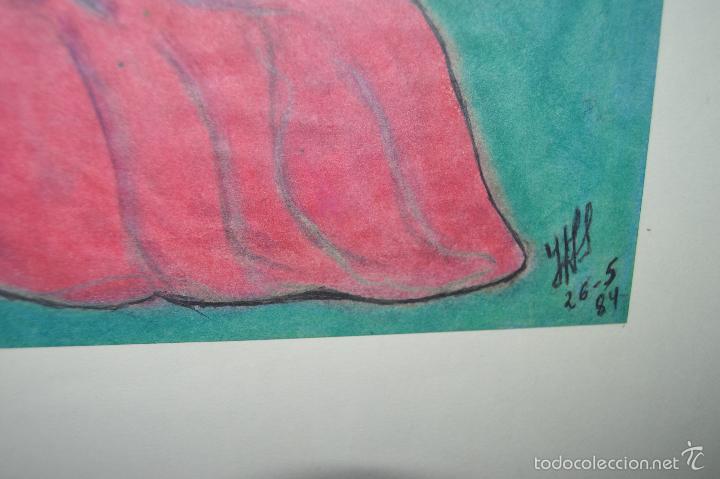 Arte: Juglar. Obra de José Ángel Salinas Álvarez.(Tudela 1958). Firmada y fechada : JAS 26-5-84 - Foto 5 - 59753512