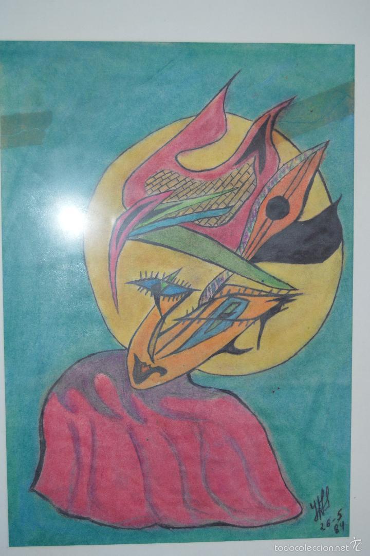 Arte: Juglar. Obra de José Ángel Salinas Álvarez.(Tudela 1958). Firmada y fechada : JAS 26-5-84 - Foto 7 - 59753512