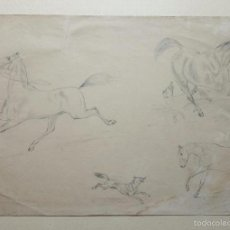 Arte: EXCELENTE DIBUJO ORIGINAL DE FIRNALES DEL XIX. MEDIDAS: 35 X 25 CM. Lote 59896051