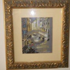 Arte: CANAL DE VENECIA AUTOR GINÉS LIÉBANA. Lote 59923347