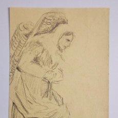 Arte: EXCELERETRATO ORIGINAL A CARBONCILLO DE FINALES DEL XIX REALIZADO POR GEORG HILGERS, FIRMADO. Lote 59967903