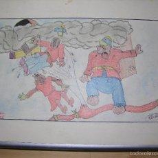 Arte: DIBUJO ORIGINAL DE C.IBAÑEZ AÑO 1943. Lote 60073527