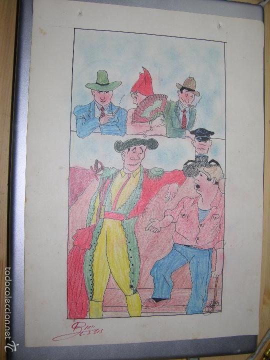 DIBUJO ORIGINAL DE C.IBAÑEZ AÑO 1943 (Arte - Dibujos - Contemporáneos siglo XX)
