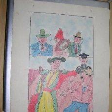 Arte: DIBUJO ORIGINAL DE C.IBAÑEZ AÑO 1943. Lote 60074131