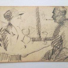 Arte: RETRATO ORIGINAL A CARBONCILLO, TRAZO IMPRESIONISTA DE GRAN CALIDAD. Lote 60255135