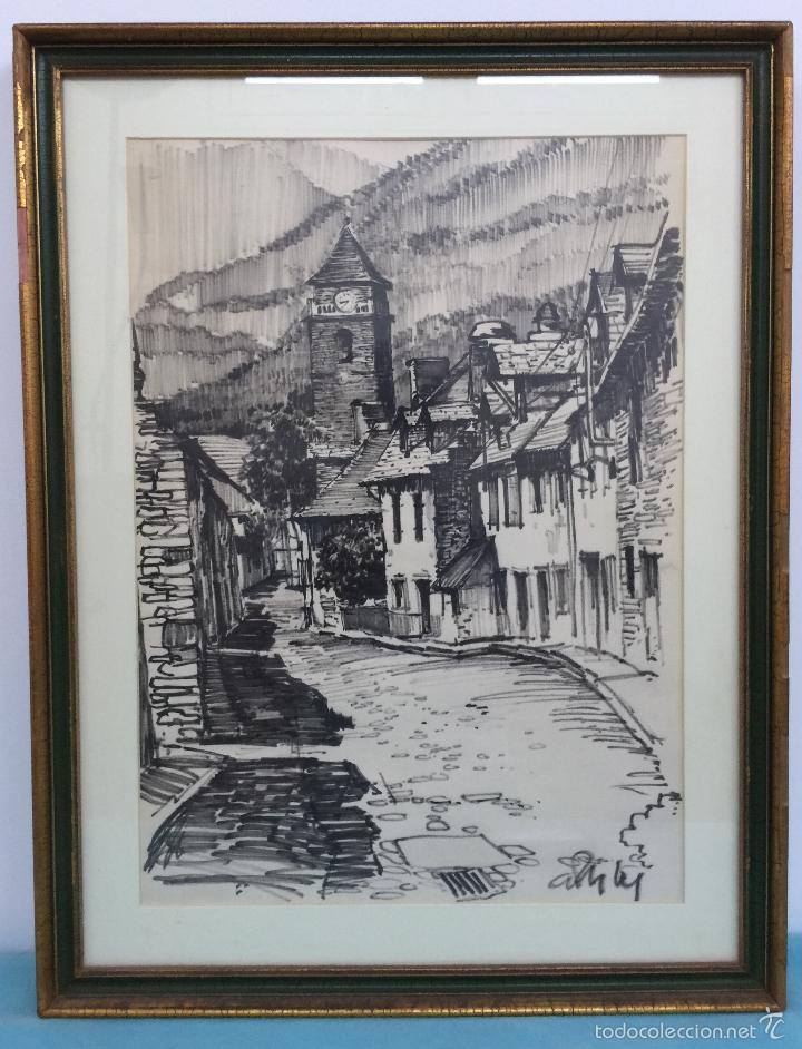 ILEGIBLE , DIBUJO A TINTA (Arte - Dibujos - Contemporáneos siglo XX)