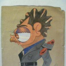 Arte: FALANGE , FRENTE DE JUVENTUDES : CARICATURA DE UN DIRIGENTE DEL FRENTE DE JAEN . 1951. Lote 60626395