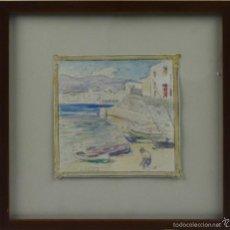 Arte: O2-023. CADAQUES. DIBUJO COLOREADO. SEGUNDO MATILLA Y MARINA. SIGLO XIX-XX. Lote 43529842