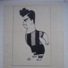 Arte: DIBUJO A TINTA DE MANUEL DEL ARCO SOBRE PAPEL, BRAVO JUGADOR DEL C.F.B .. Lote 61552104