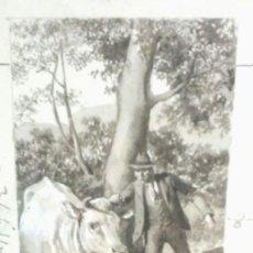 Arte: DIBUJO A LA TINTA ORIGINAL LUIS PALAO NACIDO EN ZARAGOZA 1863/1933. MED. 20 X 27 CM. Lote 61600348