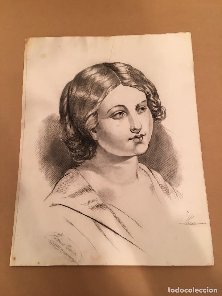 DIBUJO ORIGINAL - SIGLO XIX (Arte - Dibujos - Modernos siglo XIX)