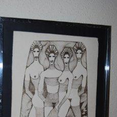 Arte: DIBUJO A TINTA - AÑOS 80 - MOVIDA MADRILEÑA - PERSONAJES FEMENINOS - VEDETTES. Lote 61772348