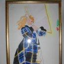 Arte: ANTONIO LOPEZ FASHION ILUSTRADOR. PARA LA REVISTA VOGUE PARIS MODELO DE KENZO.. Lote 62327480