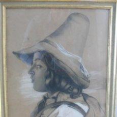 Arte: DIBUJO ANTIGUO FIRMADO M.GENÉ 1892. Lote 62330448