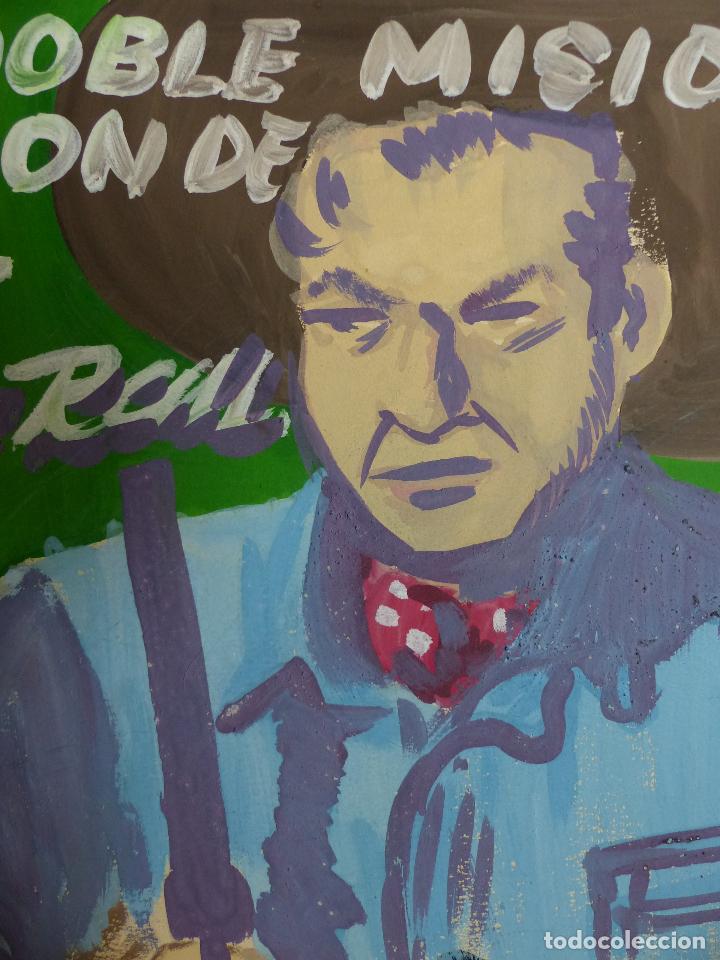 Arte: ORIGINAL PINTADO A MANO. LA DOBLE MISION DE BILL POR LAU RALL? AÑOS 40-50. OESTE VAQUERO PISTOLERO - Foto 2 - 62513312