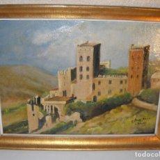 Arte: PINTURA SOBRE TELA DE SANT PERE DE RODES (GIRONA) AÑO 1961 CON FIRMA. Lote 62641356