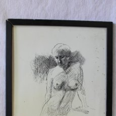 Arte: DESNUDO MUJER, DIBUJO A TINTA ORIGINAL FIRMADO. Lote 62790992